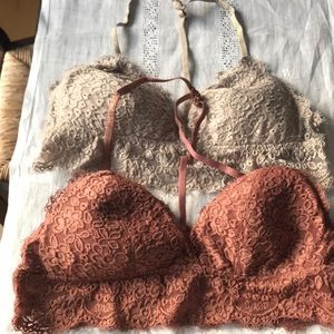 Set of two aerie bralettes